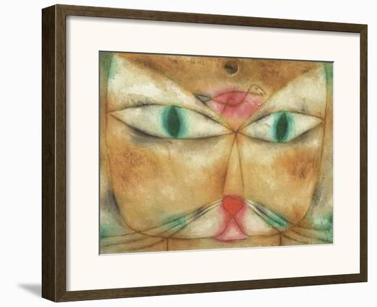 Cat and Bird-Paul Klee-Framed Art Print