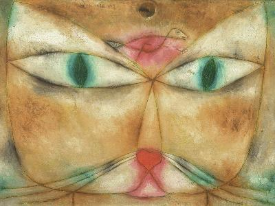 Cat and Bird-Paul Klee-Giclee Print
