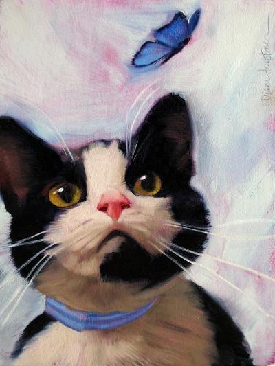 Cat and Butterfly-Diane Hoeptner-Art Print