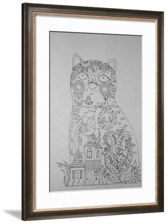 Cat And Cock 1-Oxana Zaika-Framed Giclee Print
