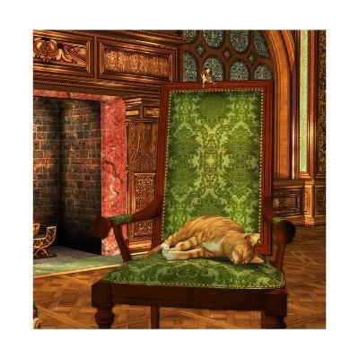 Cat And Mouse At Home-Atelier Sommerland-Art Print