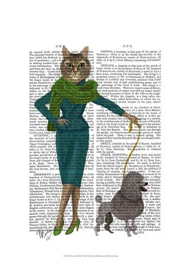 Cat and Poodle-Fab Funky-Art Print