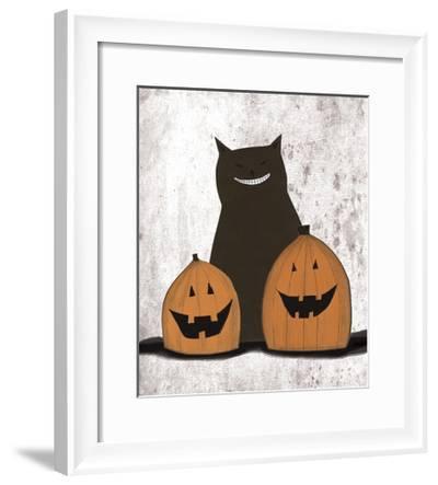 Cat and Pumpkins-Sarah Ogren-Framed Art Print