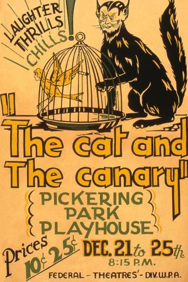 Cat and the Canary--Art Print