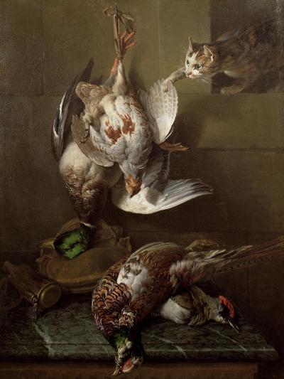 Cat Attacking Dead Game-Alexandre-Francois Desportes-Giclee Print
