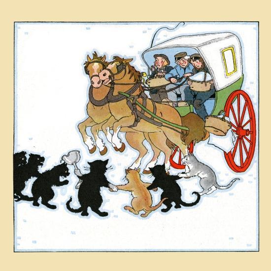 Cat Bandits- Maud & Miska Petersham-Art Print