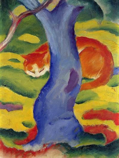 Cat Behind a Tree, 1910/11-Franz Marc-Giclee Print