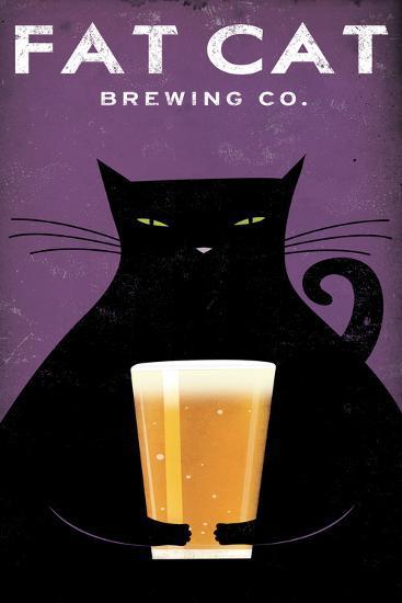 Cat Brewing no Words-Ryan Fowler-Art Print