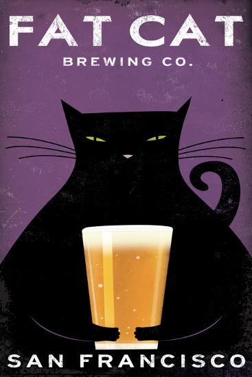 Cat Brewing-Ryan Fowler-Art Print