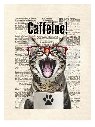 Cat Caffeine-Matt Dinniman-Art Print