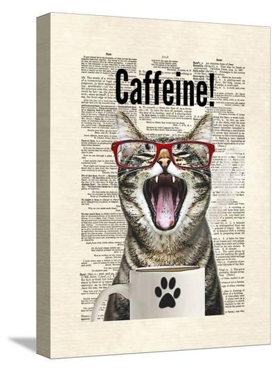 Cat Caffeine-Matt Dinniman-Stretched Canvas Print
