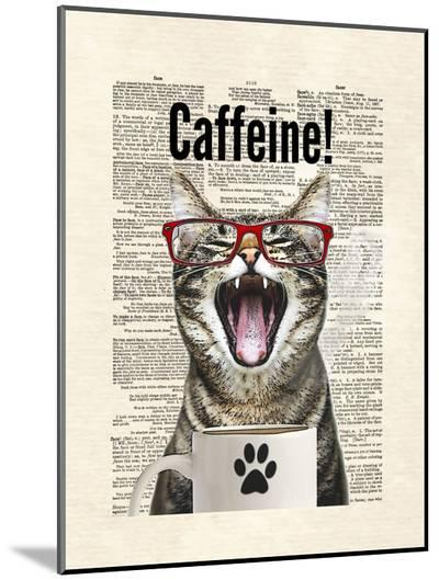 Cat Caffeine-Matt Dinniman-Mounted Print