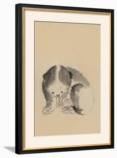 Cat Cleaning its Claws-Katsushika Hokusai-Framed Photographic Print