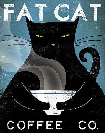 Cat Coffee Co.-Ryan Fowler-Art Print