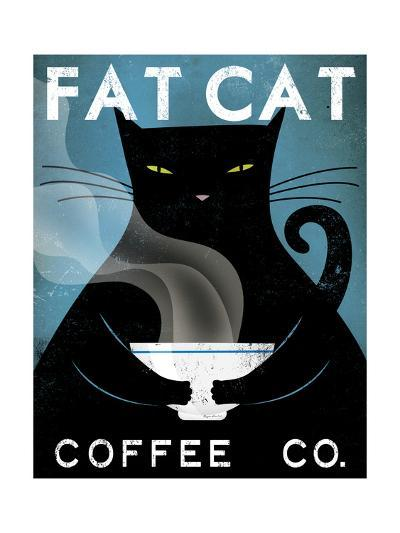 Cat Coffee-Ryan Fowler-Premium Giclee Print