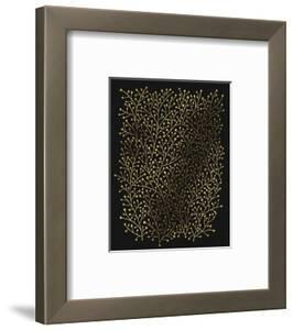 Berry Branches in Black and Gold by Cat Coquillette