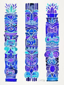 Blue Tiki Totems by Cat Coquillette