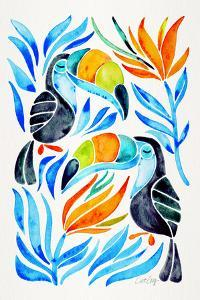 Blue Toucans by Cat Coquillette