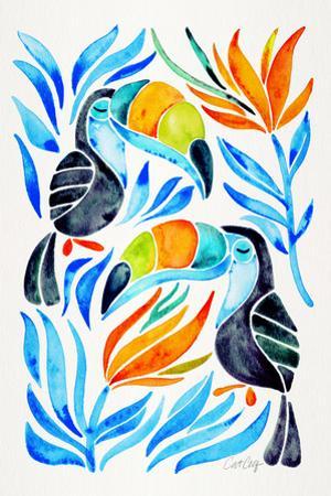 Blue Toucans by Cat Coquillette