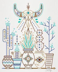 Brown Santa Fe Garden by Cat Coquillette