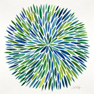 Burst in Cool Palette by Cat Coquillette