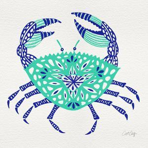 Crab in Turquoise and Navy by Cat Coquillette
