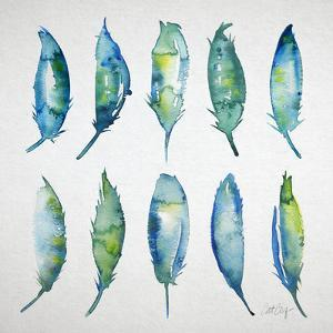 Feather Watercolor by Cat Coquillette