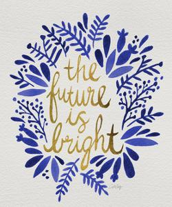 Future is Bright - Navy and Gold by Cat Coquillette