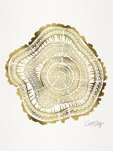 Gold Tree Rings by Cat Coquillette