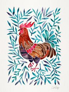 Green Leaves Rooster by Cat Coquillette