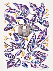 Happy Sloth Indigo by Cat Coquillette
