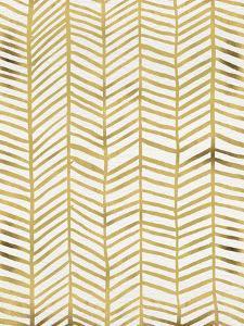 Herringbone - Gold by Cat Coquillette