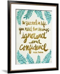 Ignorance and Confidence - Gold and Turquoise – Cat Coqullette by Cat Coquillette