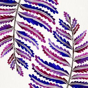 Indigo Fern Leaf Pattern by Cat Coquillette