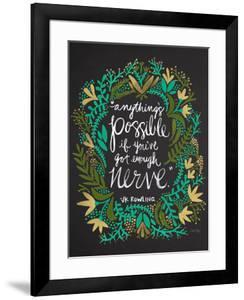JKRowling_Green-on-Black_Artprint by Cat Coquillette