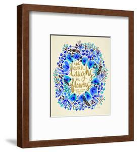 Laughs in Flowers � Blue and Gold Palette by Cat Coquillette