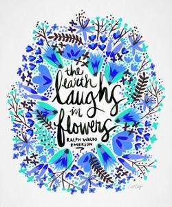 Laughs in Flowers � Blue Palette by Cat Coquillette