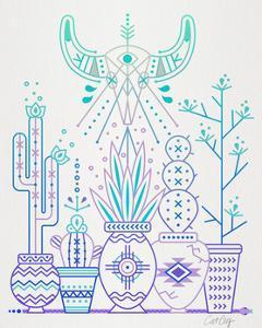 Lavender Santa Fe Garden by Cat Coquillette
