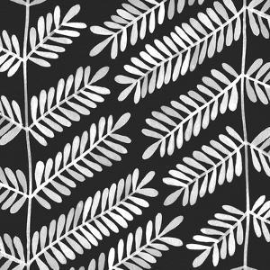 Leaflets Black Pattern by Cat Coquillette