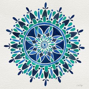 Mandala in Blue by Cat Coquillette