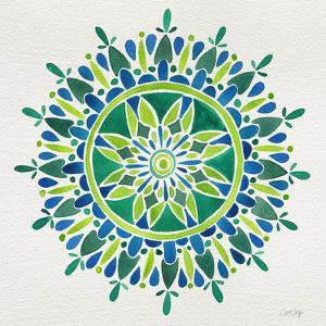 Mandala in Green by Cat Coquillette