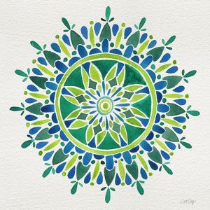 Mandala in Green by Cat Coquillette