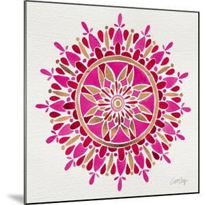 Mandala in Pink and Gold by Cat Coquillette
