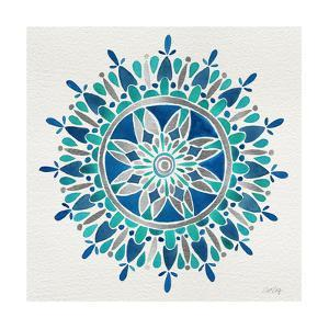 Mandala in Silver and Blue by Cat Coquillette