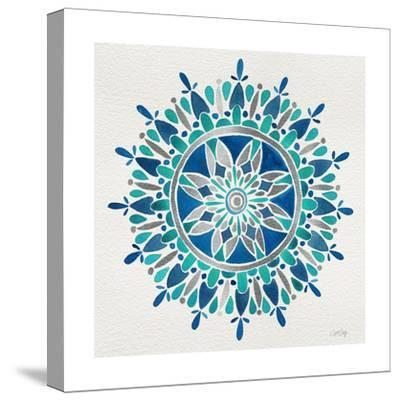 Mandala in Silver and Blue