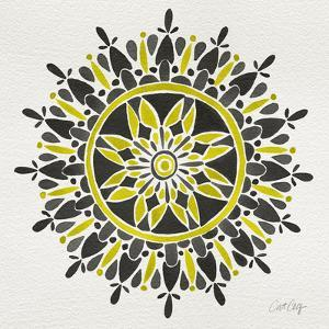 Mandala in Yellow and Black by Cat Coquillette