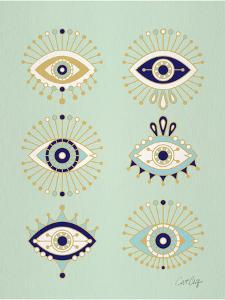 Mint Evil Eyes by Cat Coquillette