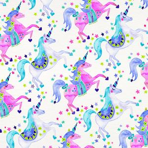 Pastel Unicorns Pattern by Cat Coquillette