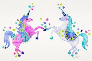 Pastel Unicorns by Cat Coquillette