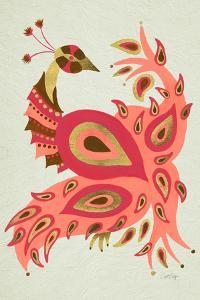 Peacock in Gold and Pink by Cat Coquillette